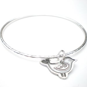 Image of Folklore Silver Bird Bangle