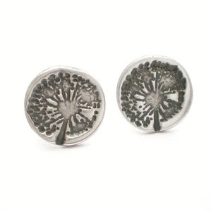 Image of Silver Dandelion Wish Stud Earrings