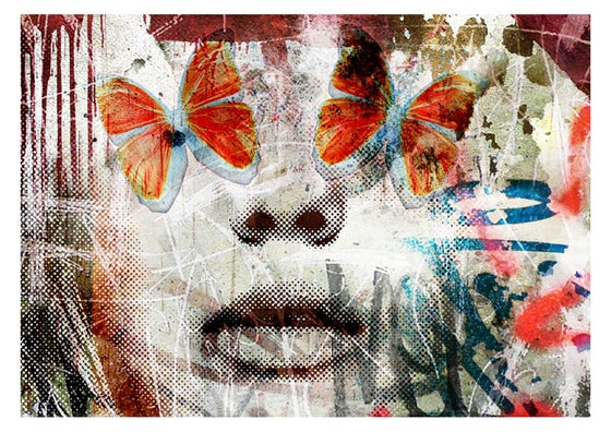 "Image of ""Butterfly Eyes"" OPEN EDT PRINT - FREE WORLDWIDE SHIPPING!!!"