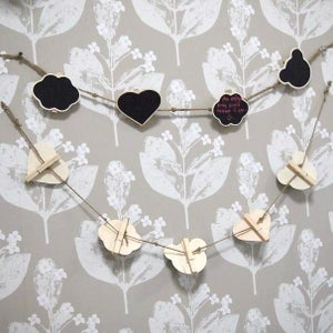 Wooden Pegs On A String