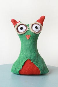 "Image of A Series of Unfortunate Owls ""Quigley"" in Green/Orange"