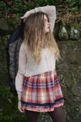 Image of Hollister Orange Plaid Skirt