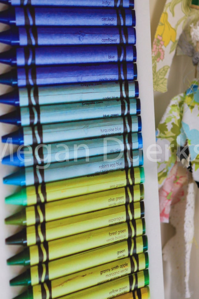 Image of Rainbow Crayons Canvas