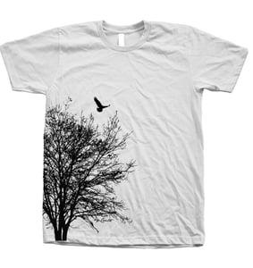 Image of Tree Tshirt Mens Unisex Hand Screen Print American Apparel Crew Neck