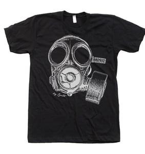 Image of Vintage Gas Mask Shirt Mens Unisex American Apparel Crew Neck