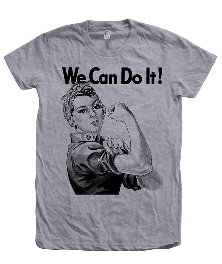 Womens tshirt rosie the riveter ww2 we can do it tshirt for American apparel custom t shirt printing