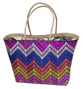Image of Malaya Tote Purple Zigzag