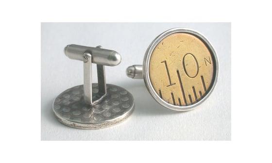 Image of vintage ruler cufflink