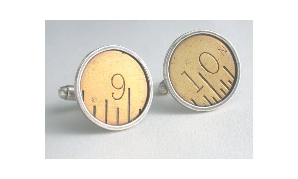 Image of vintage ruler cufflink