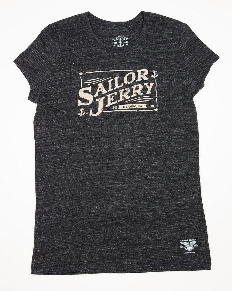 Image of Sailor Jerry Women's Tee - Good Times (Vintage Onyx)