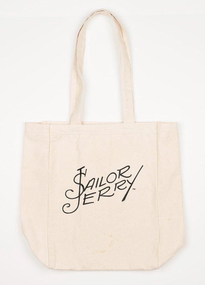 Image of Sailor Jerry Tote Bag - Signature - Natural