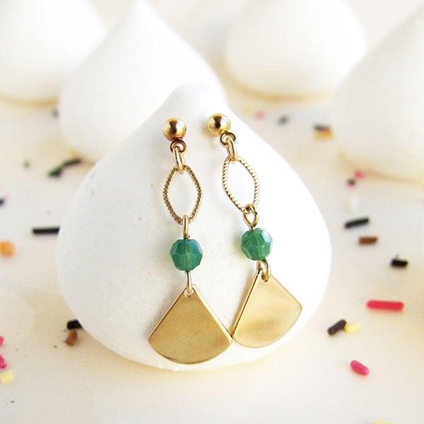 Image of Boucles d'oreilles dorées géométriques