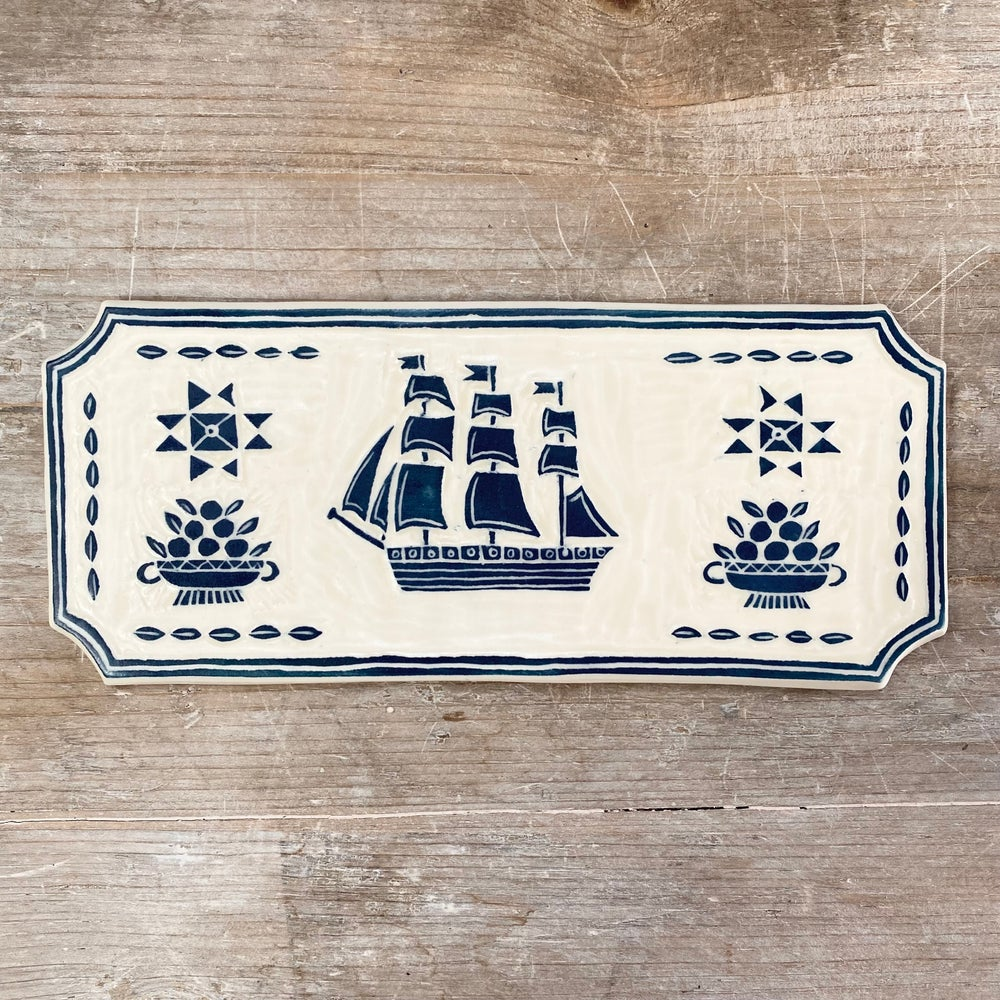 Image of Small Navy Ship Plaque