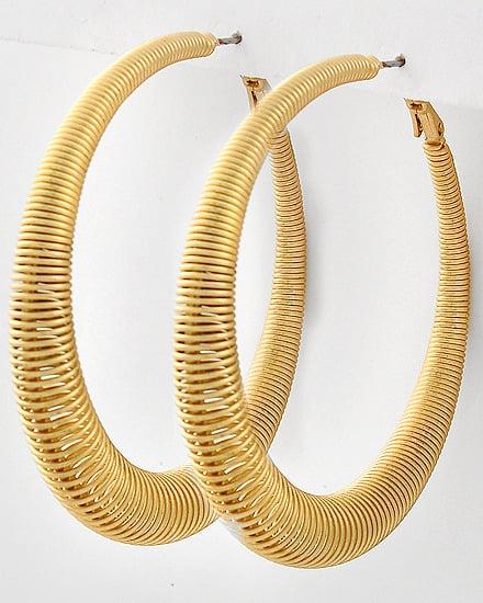 Image of Matte Gold Loop Hoops