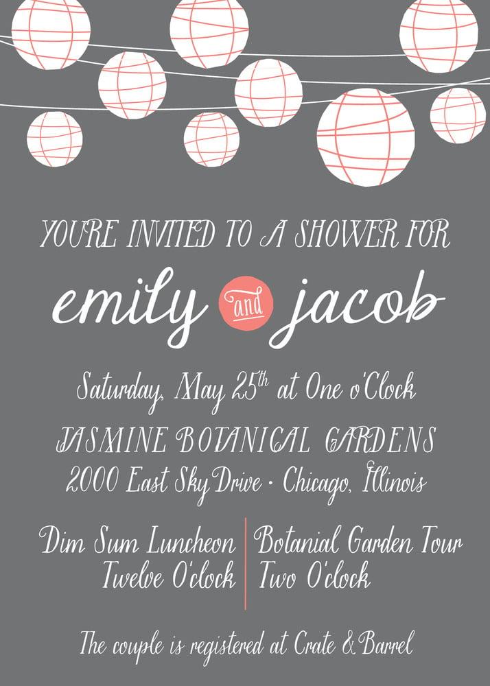 Paper Lantern Invitation