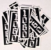 "Image of ""The Numbers"" Stickers"