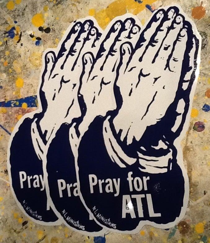 Image of Jumbo Pray for ATL stickers