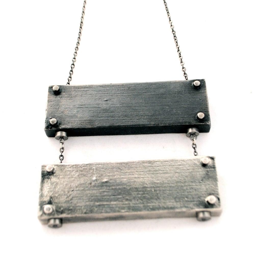 Image of medium horizontal necklace - double