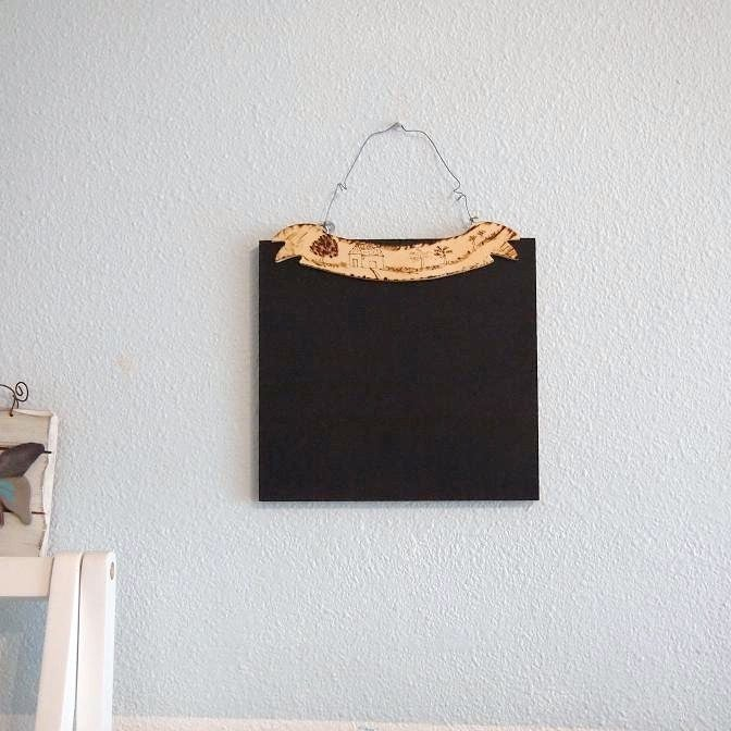 Small Burnt Wood Chalkboard