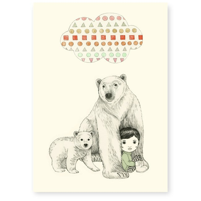 Image of Affichette Ours polaire A5