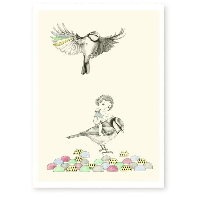 Image of Affiche A4 Oiseaux