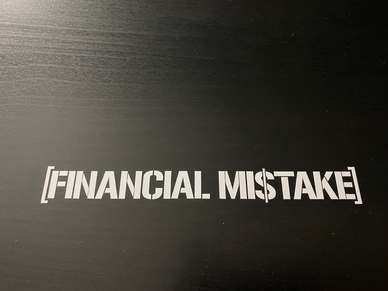 Image of Financial Mistake