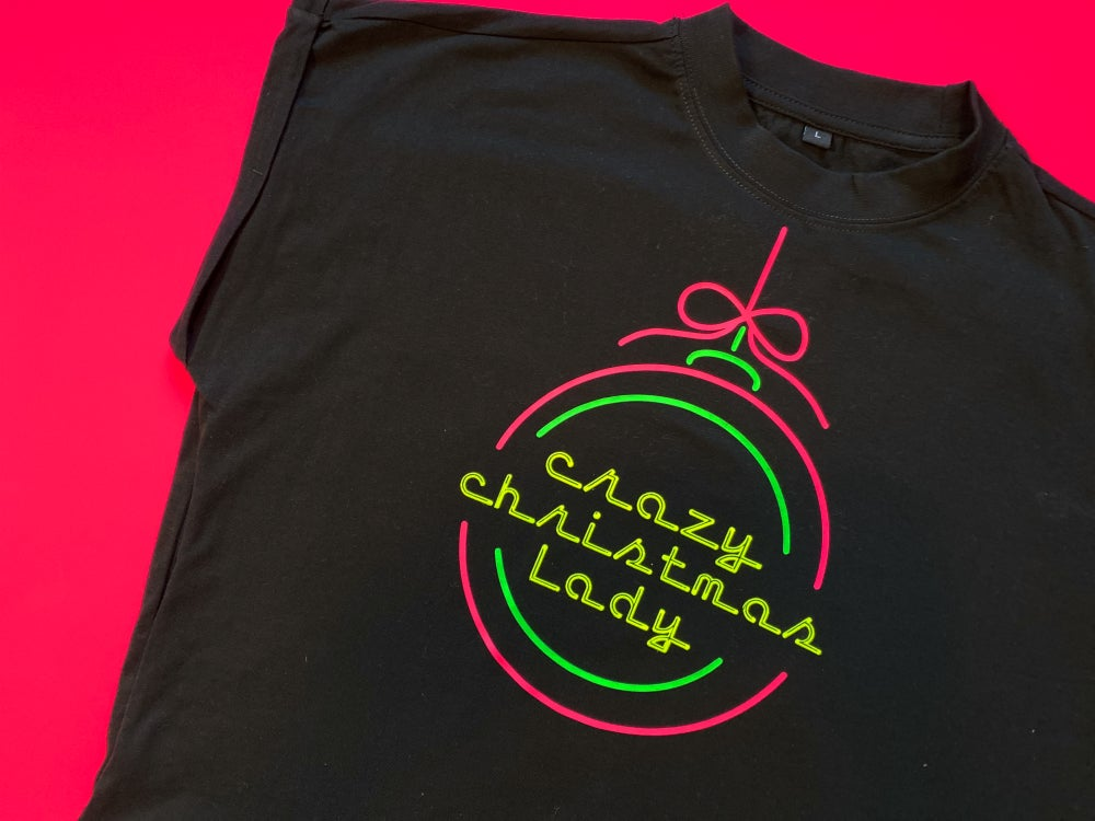 Image of Crazy Christmas Lady T-dress