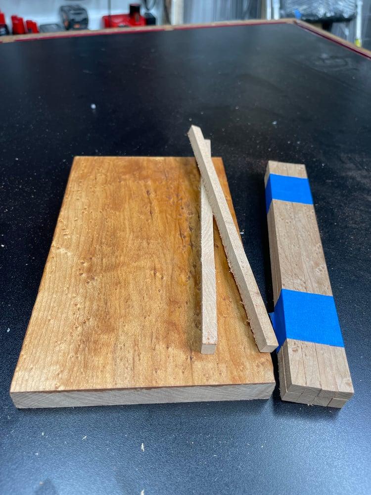 Image of Birdseye Maple Chopstick Blanks - Sets Of 8