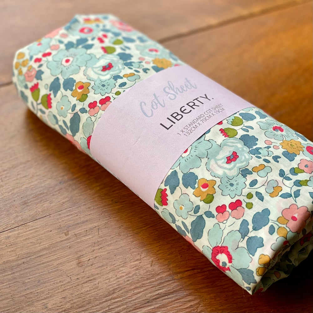 Image of Liberty Fitted Cot Sheet - Betsy P
