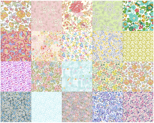 Image of 2.5 Inch Charm Squares - Pale Rainbow