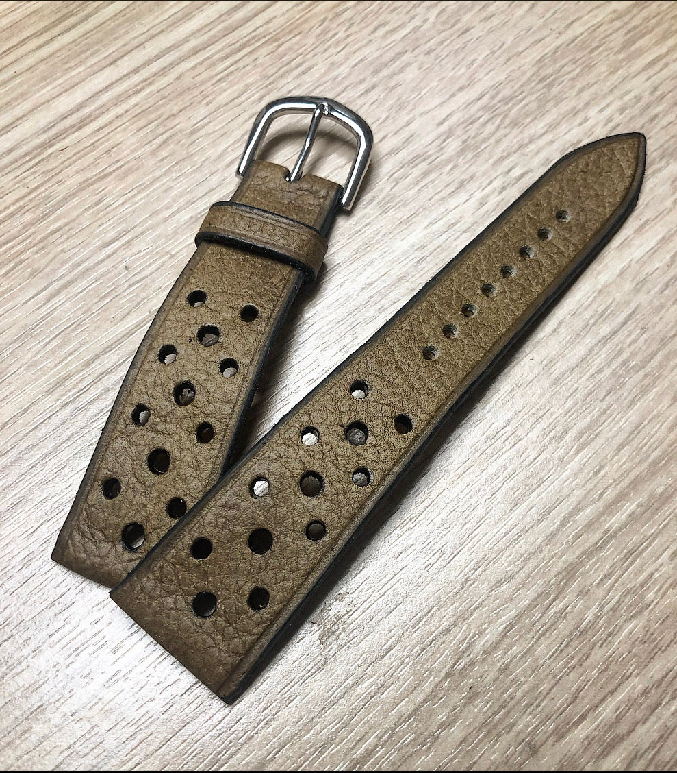 Image of Vintage Calfskin Rally Strap - Hourglass Cut -