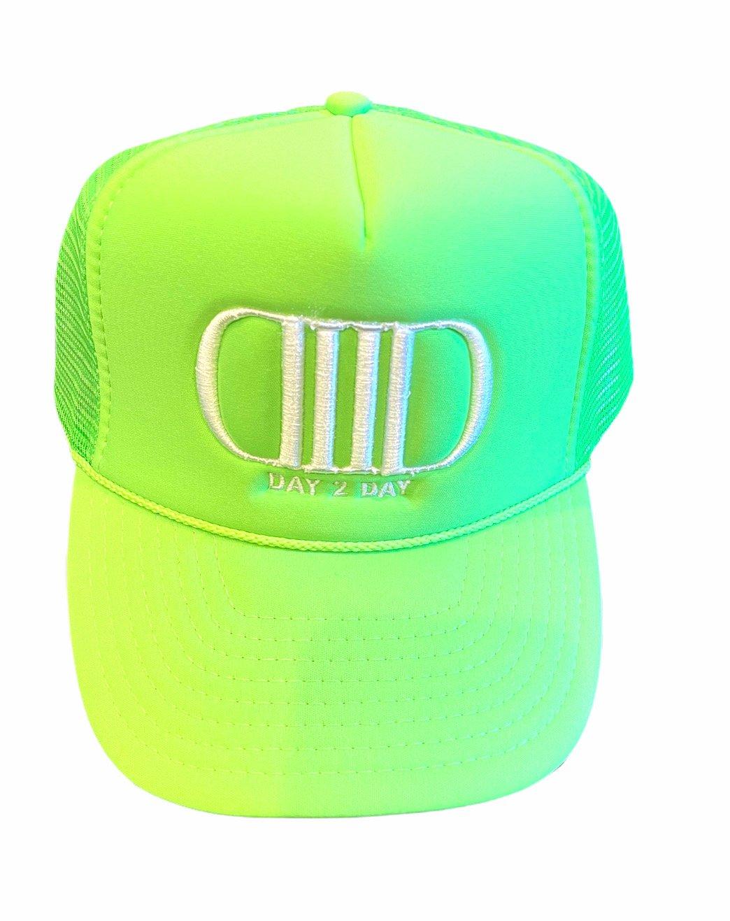 Neon Green/White Trucker Hat