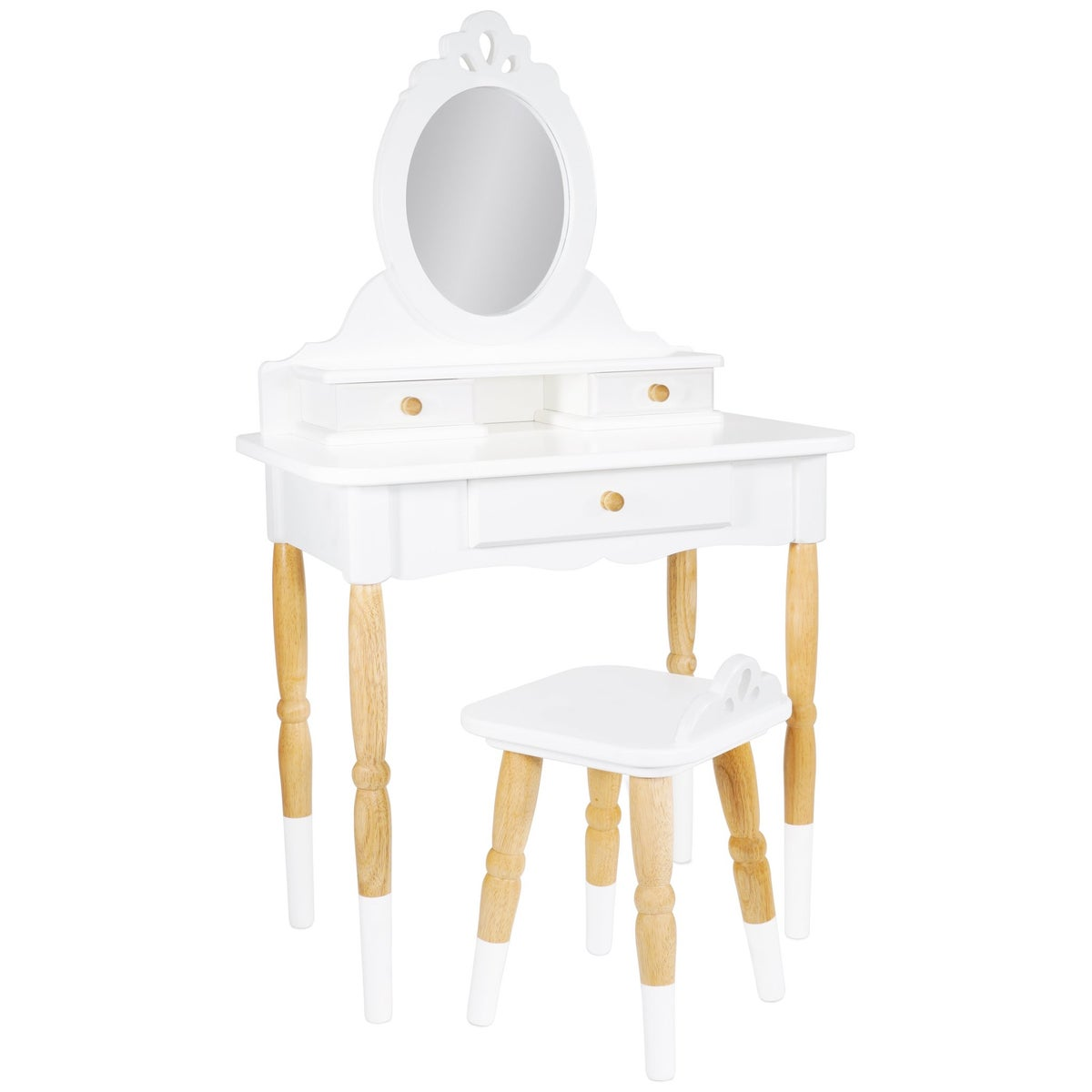 Image of White & Wood Vanity Table (expected September)