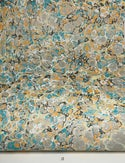 Marbled Paper Fall Colors Stone Pattern - 1/2 sheets
