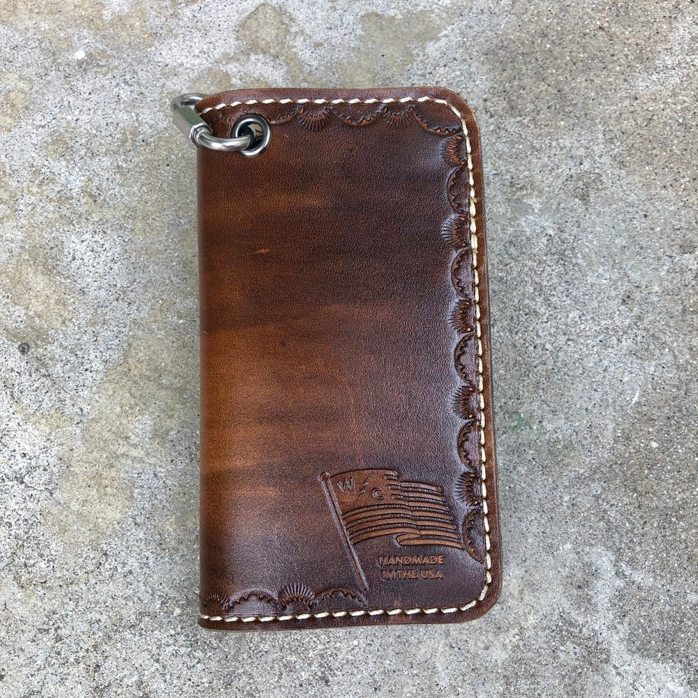 Image of Dark Brown Mid Size Wallet - Ready to ship