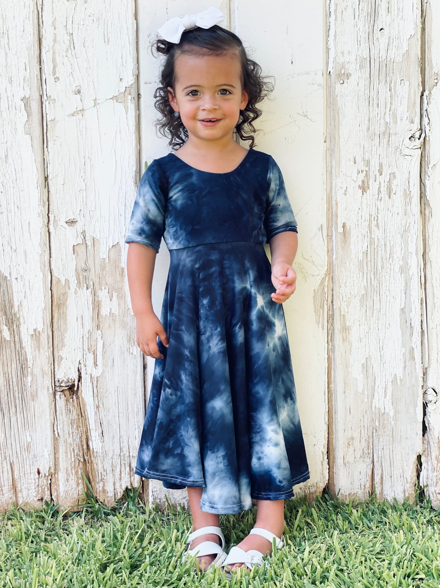 Image of Baby/Girls • Navy Blue Tie dye • Twirly Dress