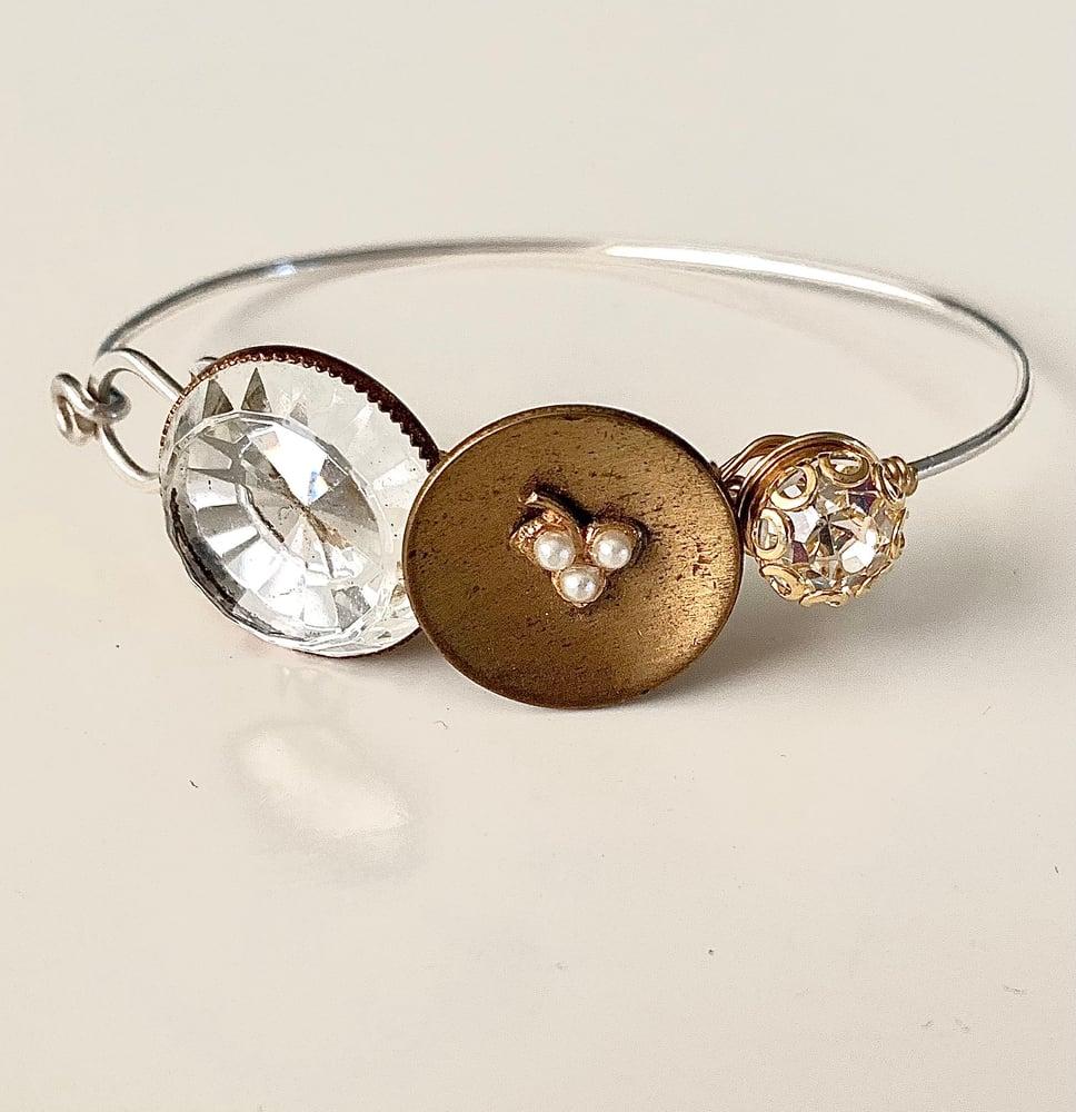 """Image of """"Treasured"""" Vintage Button Bracelet"""