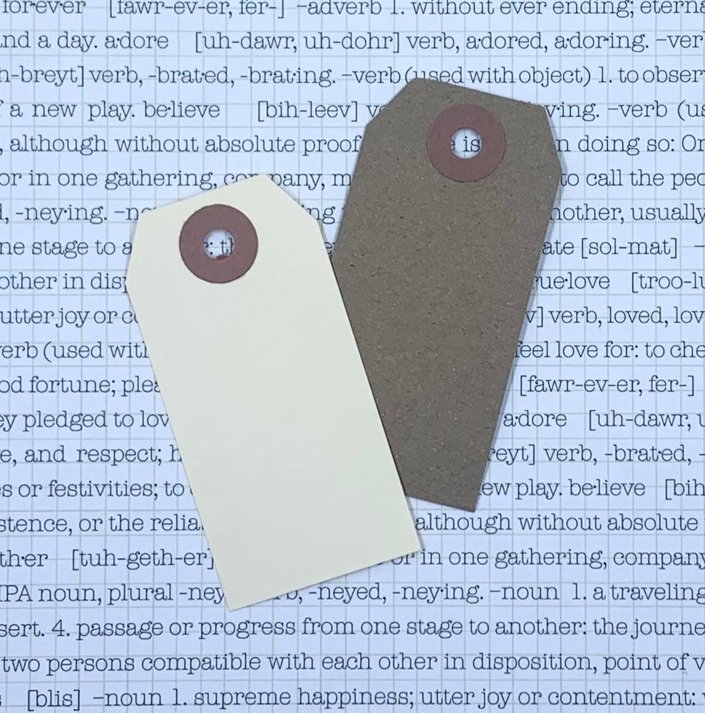 Image of retro gift tag - kraft brown