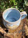 Grey-pink Leaf Relief Mug