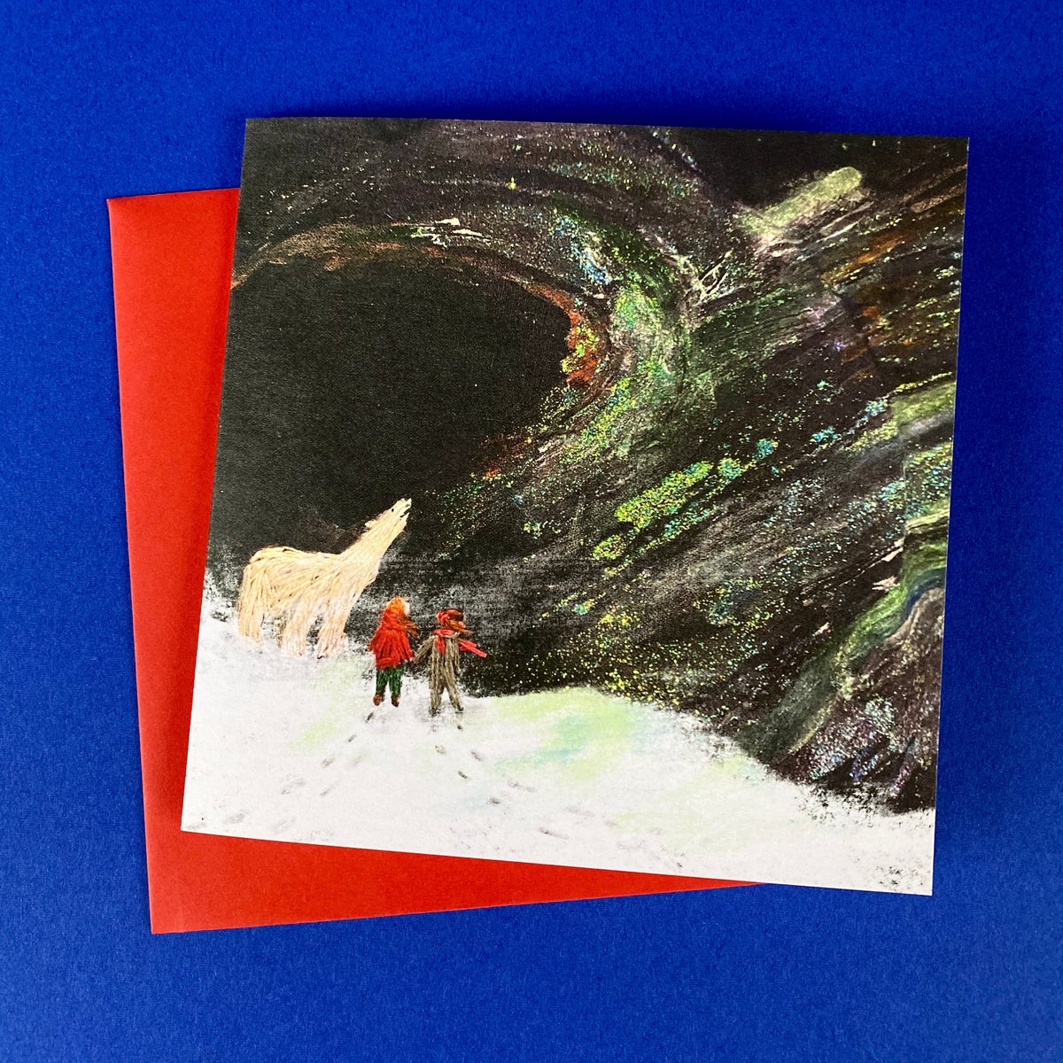 Image of Set of 'Embroidered' luxury Christmas Cards