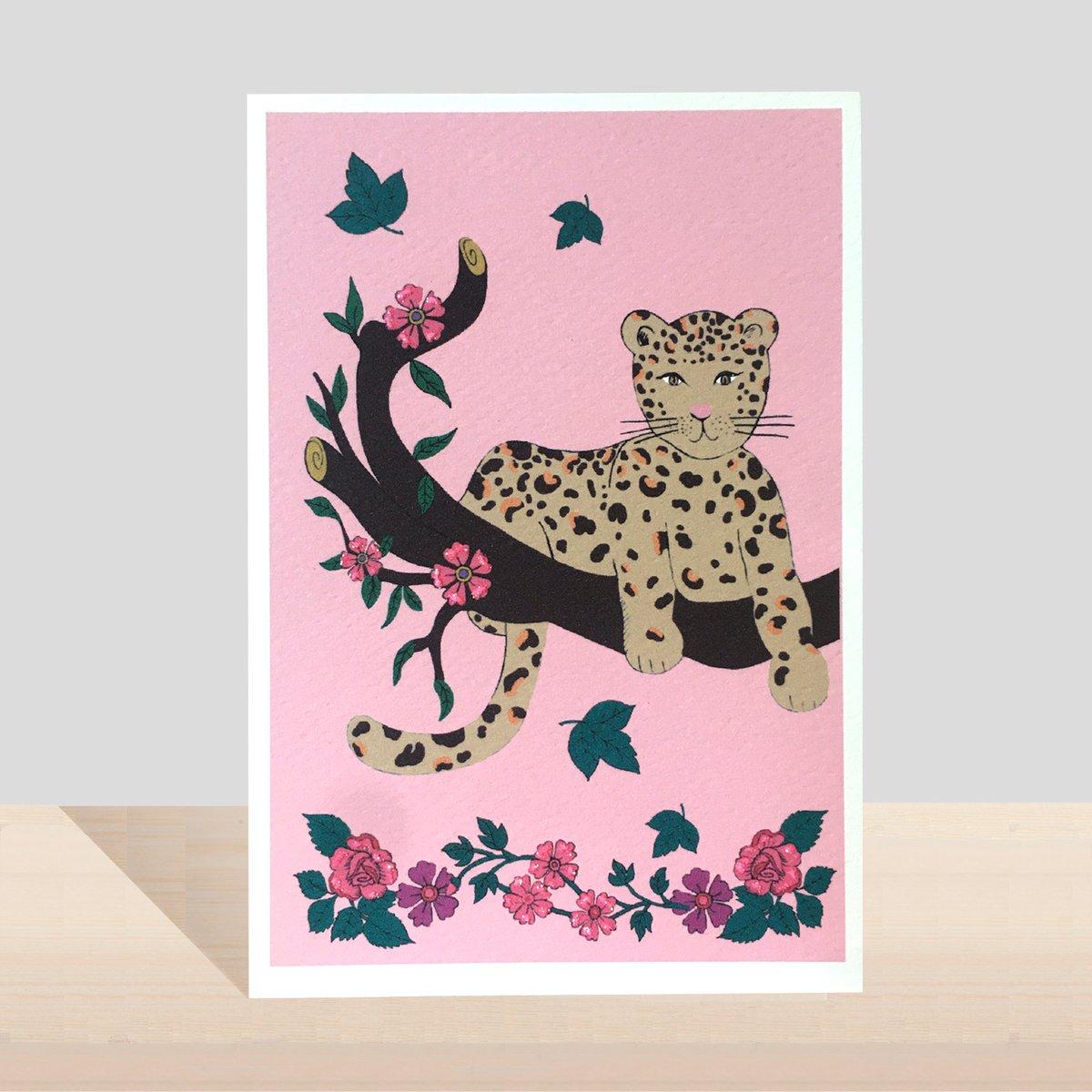 Flora And fauna Leopard Card