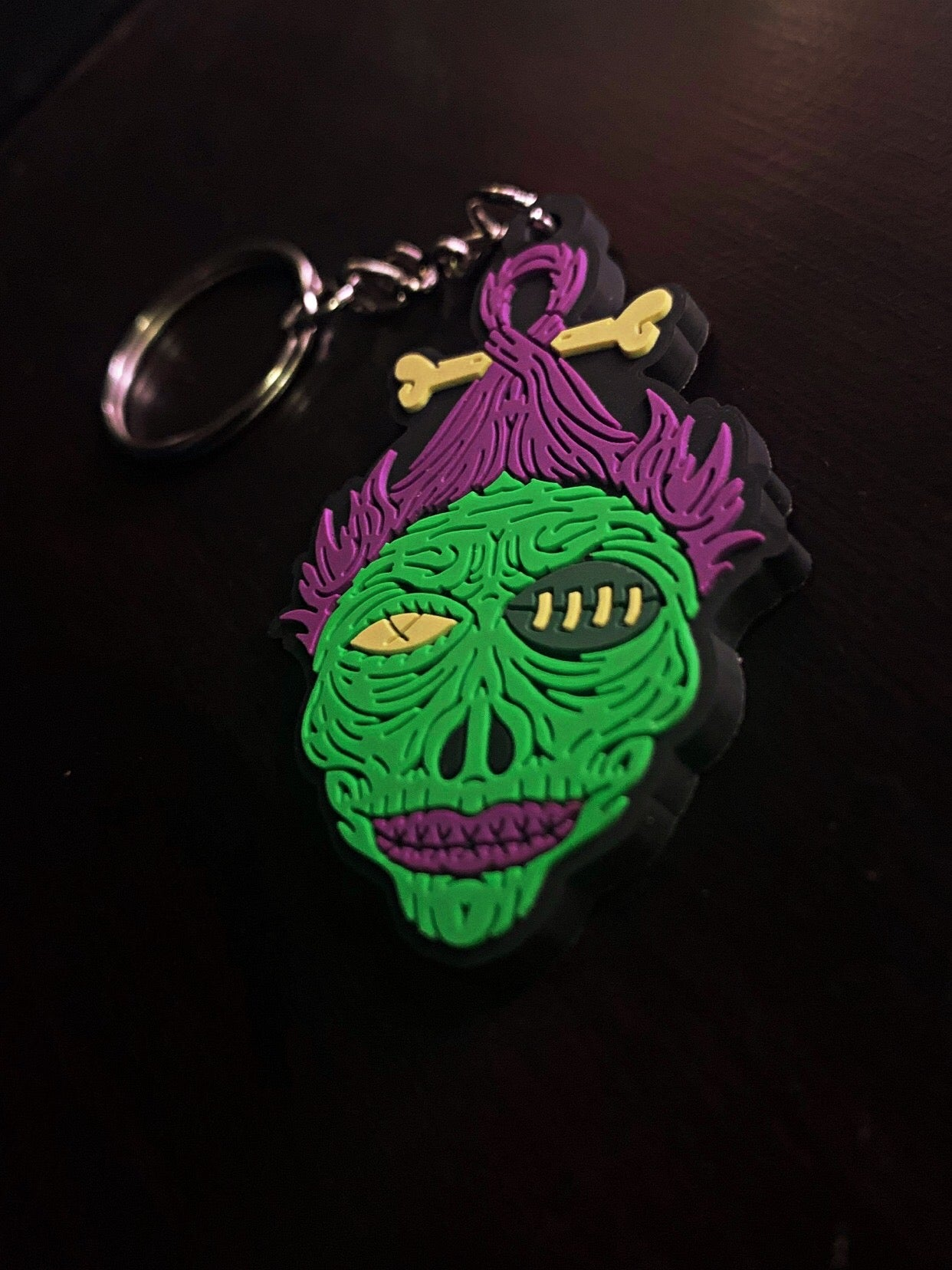Image of 3D RUBBER SHE LOGO KEY CHAIN
