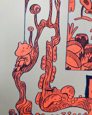 Wyrm Wood - Risograph Print