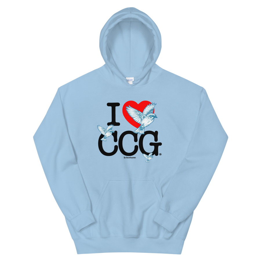 Image of I <3 CCG Hoodie (Baby Blue)