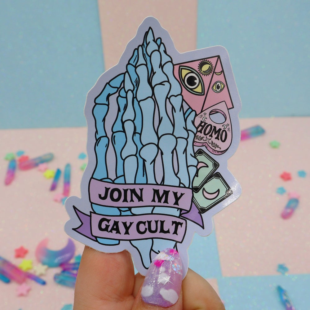 Image of Join My Gay Cult Large Vinyl Sticker