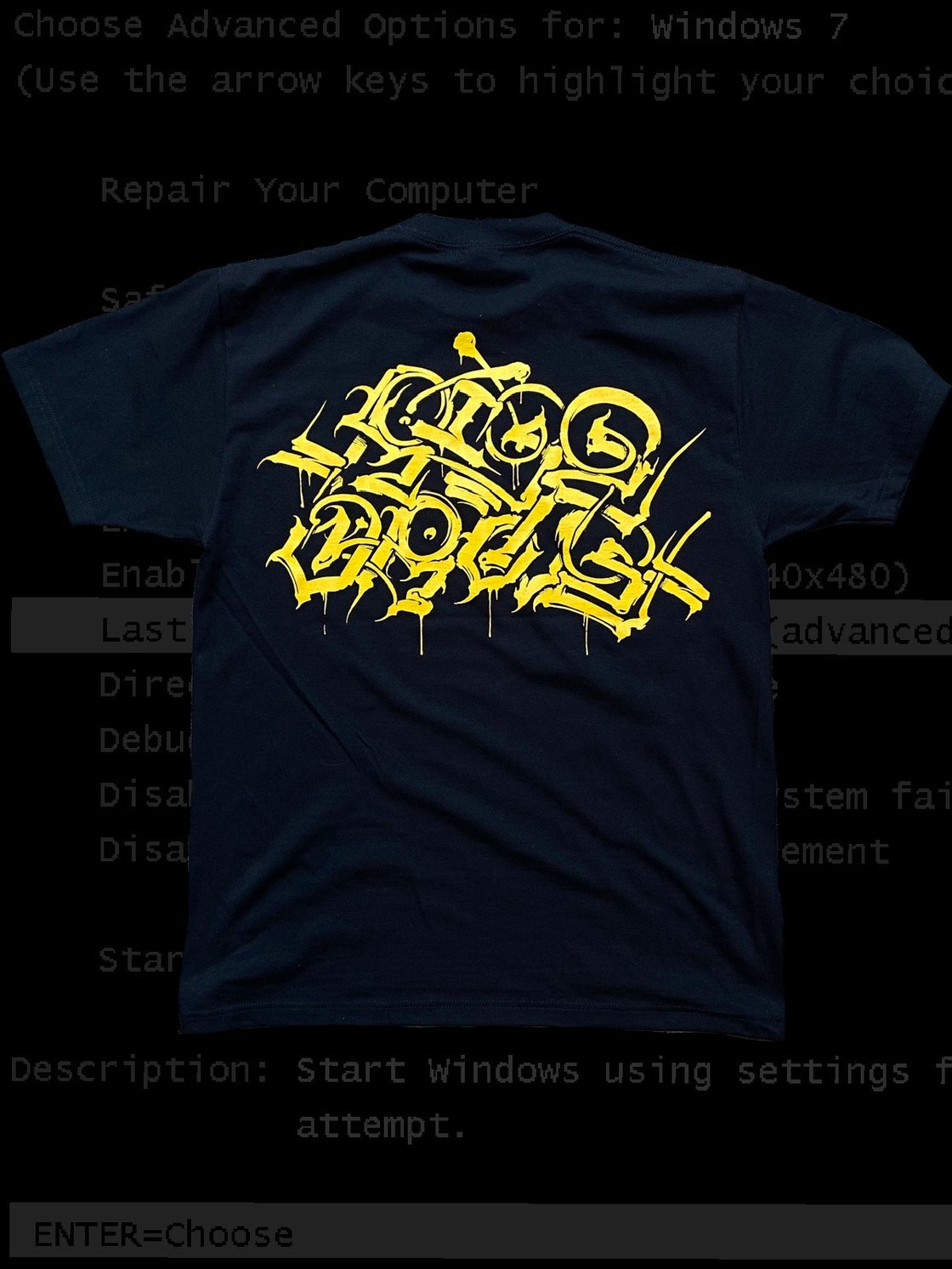 Image of RISE ABOVE (BLK/GOLD)
