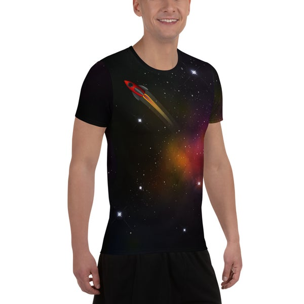 Image of Space Race Relaxed Fit Athletic T-shirt