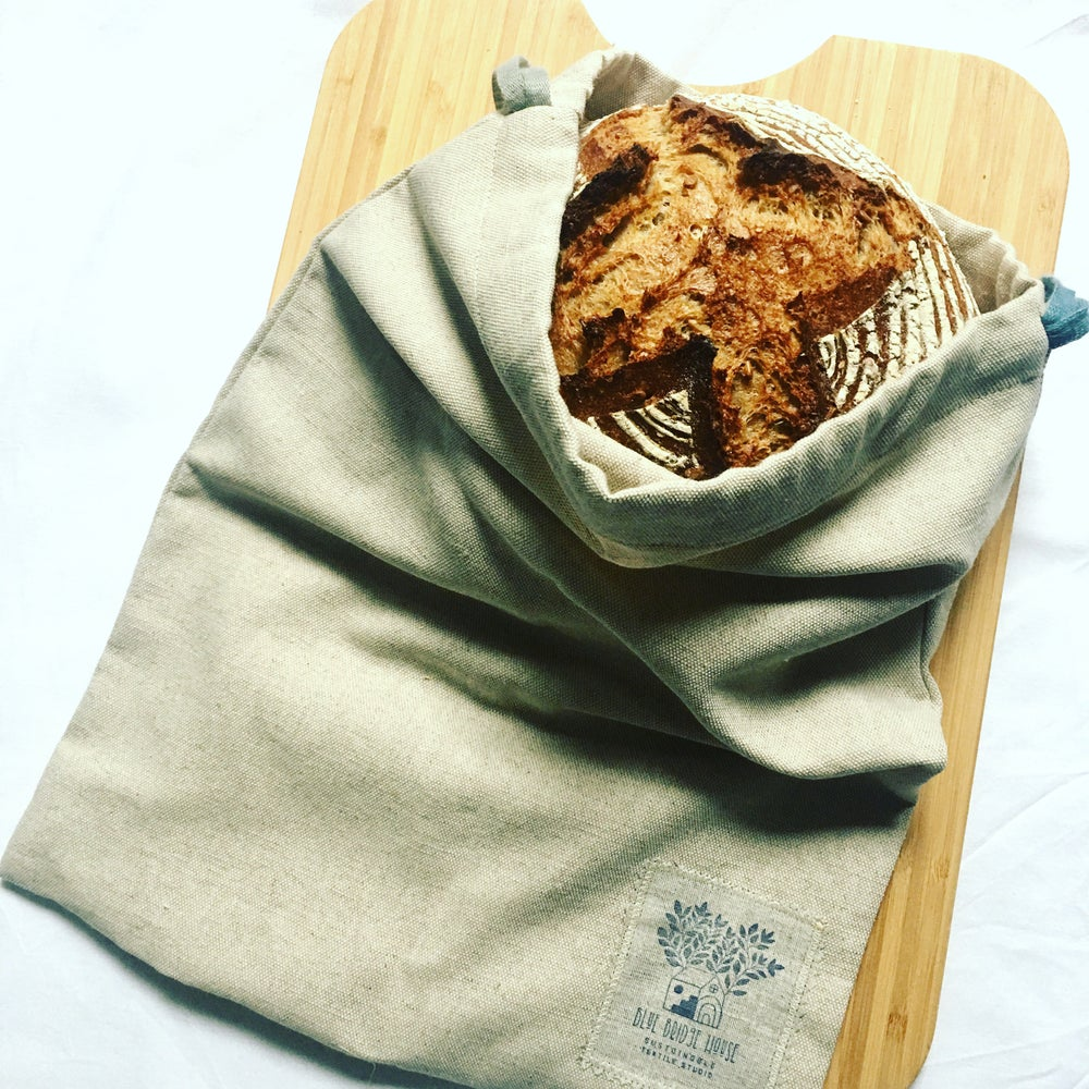 Image of Linen & Cotton Bread Bag