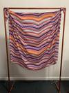 rainbow shingle printed poly chiffon fabric