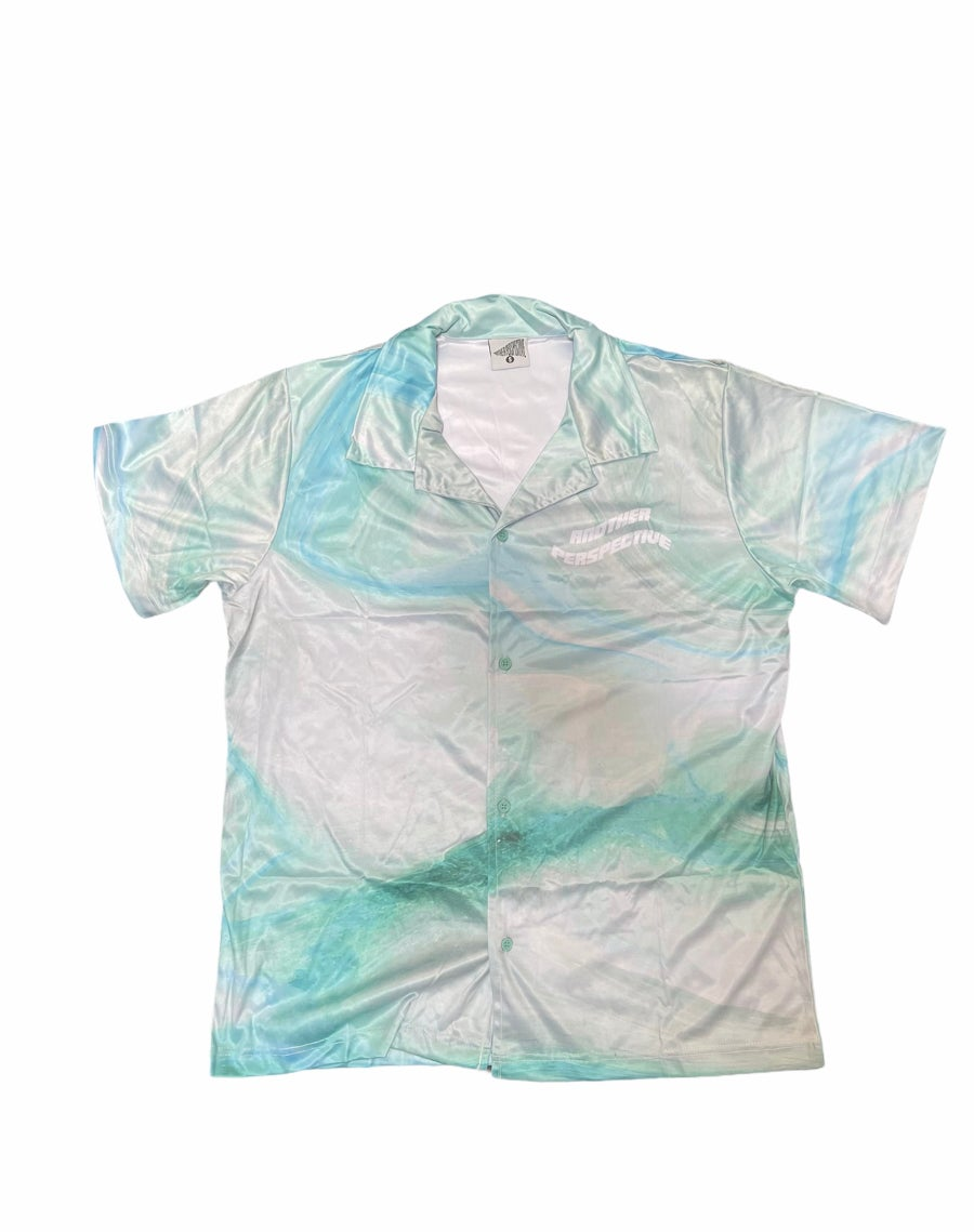 Image of Blue Marble Button-Up Shirt